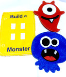 Build a monster quiet book page QB109