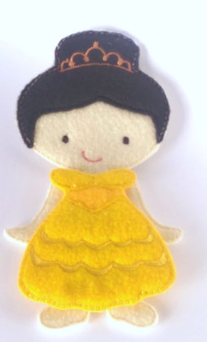 Belle felt doll plus felt outfit