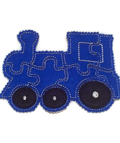 Blue train Felt Puzzle Wonderful for party favors and busy bags