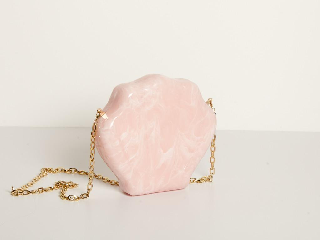 Clam Bag in Pink