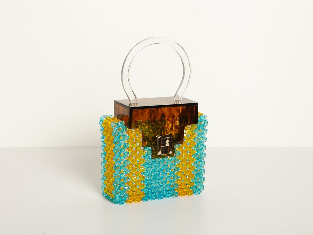 Sofia Bag in Blue & Yellow