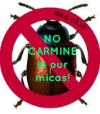 No Carmine in our micas