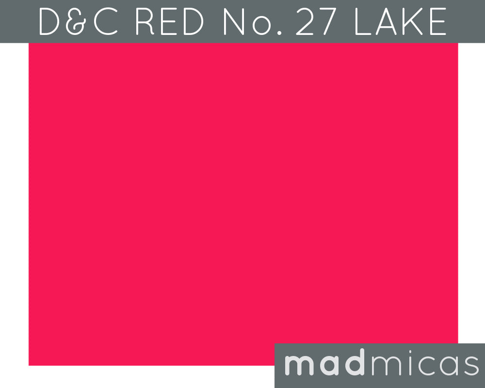 FDA-Certified Red No. 27 Lake