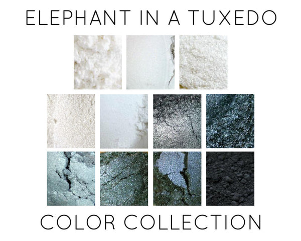 Elephant In A Tuxedo Black, Grey and White Color Collection