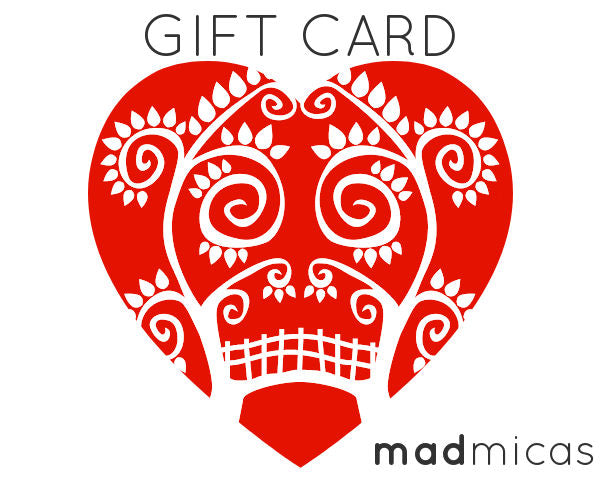 Mad Micas gift cards for madmicas.com