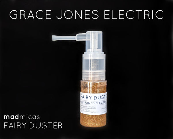Grace Jones Electric Gold Glitter in a  Dry Glitter Pump