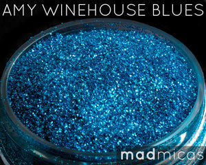 Amy Winehouse Blues Blue Glitter