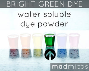 Mad Micas Bright Green Dye
