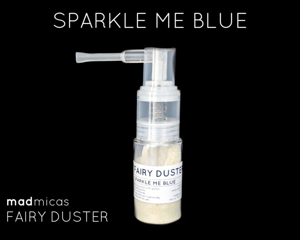 Sparkle Me Blue glitter in a dry glitter pump