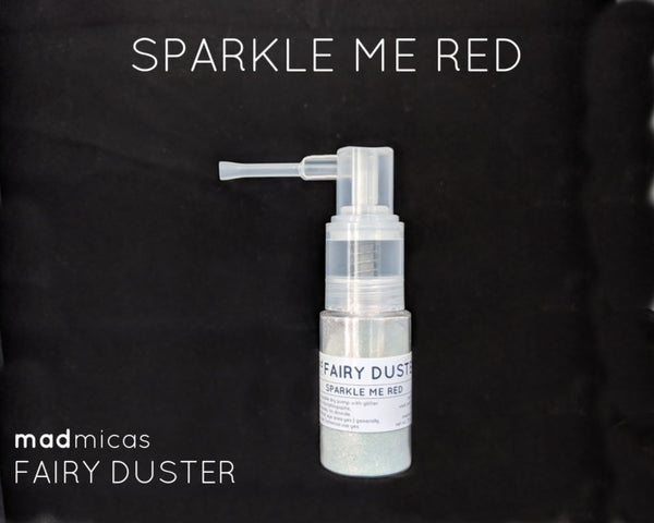 Sparkle Me Red glitter in a dry glitter pump
