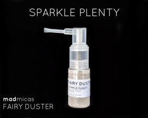 Sparkle Plenty premium glitter in a dry powder pump