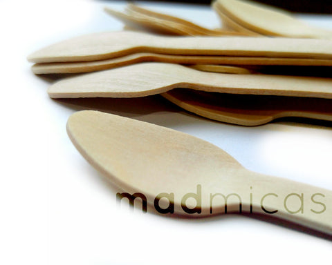 Mini Wooden Spoons - Set of 20
