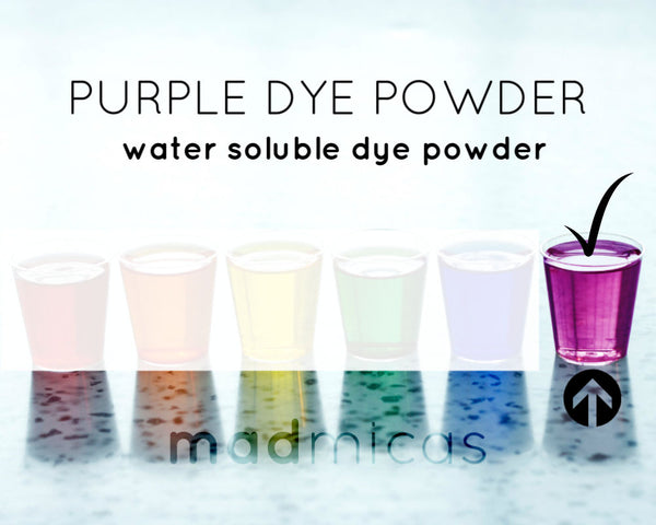 Purple dye powder from Mad Micas