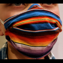 Load image into Gallery viewer, ADULT MEDIUM- The 3 Pocket Mask: 100 % Cotton Face Covering