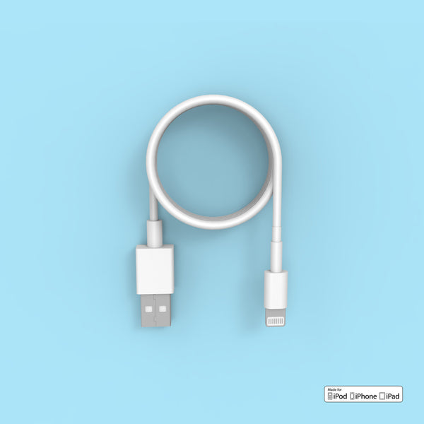 Apple lighting cable top view