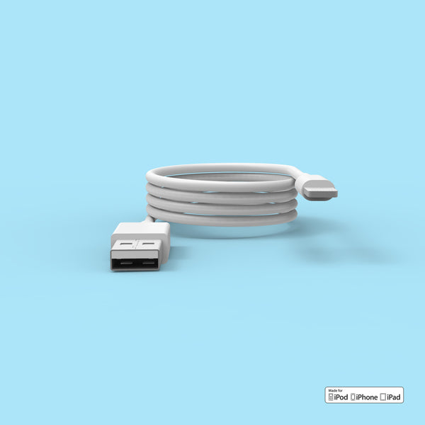 Apple lightning cable side view