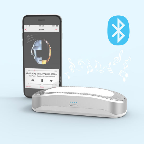 PowerSound Mini pairs to your phone or tablet via Bluetooth