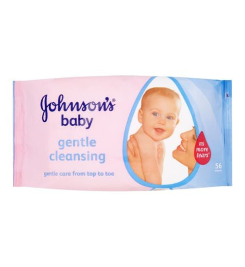 JOHNSON AND JOHNSON'S - BABY WIPES - 3PK