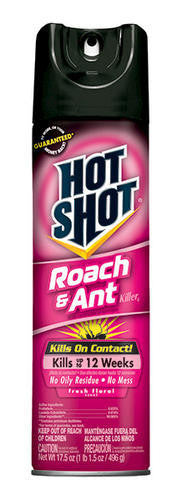 HOTSHOT - ROACH AND ANT - 17.5 OZ - FRESH FLORAL - 12CT/CASE