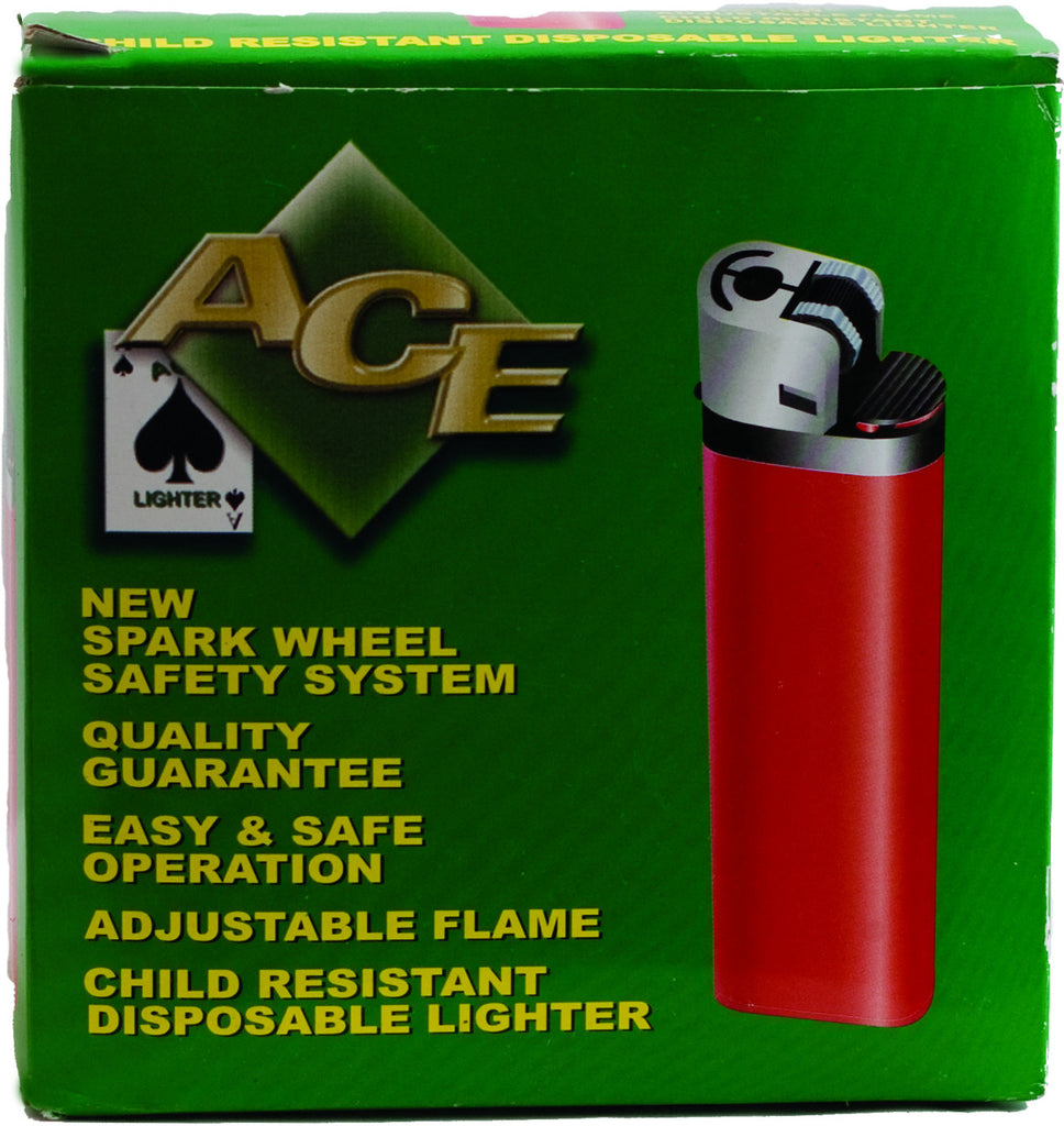 ACE - DISPOSABLE LIGHTERS - 50PC/TRAY