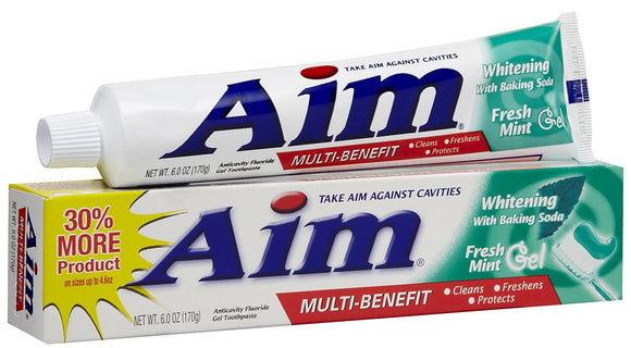 AIM - BAKING SODA - MINT GEL TOOTHPASTE 6 OZ