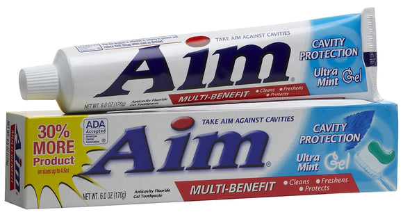 AIM - CAVITY PROTECTION - MINT GEL TOOTHPASTE 6 OZ