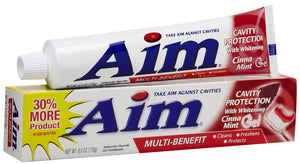 AIM - CAVITY PROTECTION - RED GEL TOOTHPASTE 6 OZ