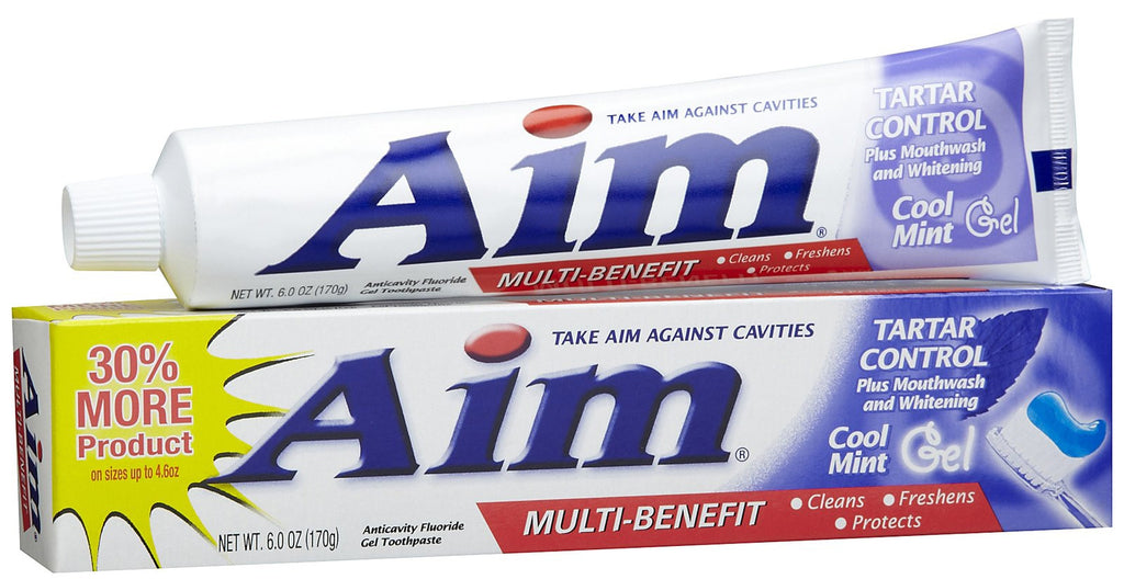 AIM - TARTAR CONTROL - MINT GEL TOOTHPASTE 6 OZ