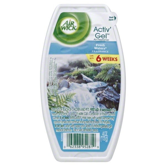 AIR WICK - Active Gel - 4OZ - Fresh Waters - 12pcs/Case