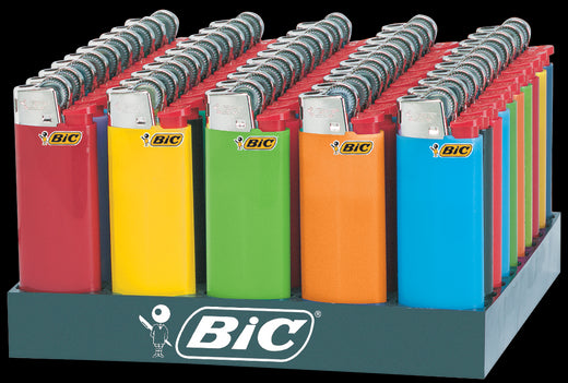 BIC - MINI LIGHTERS- 50PC/TRAY