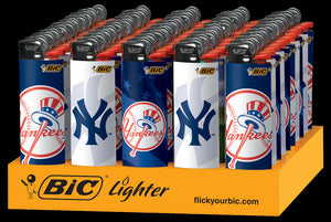 BIC - YANKEES LIGHTERS - 50PC/TRAY