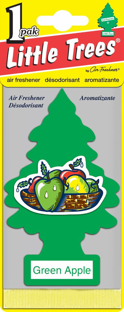 LITTLE TREES - CAR FRESHENER - GREEN APPLE 24'S