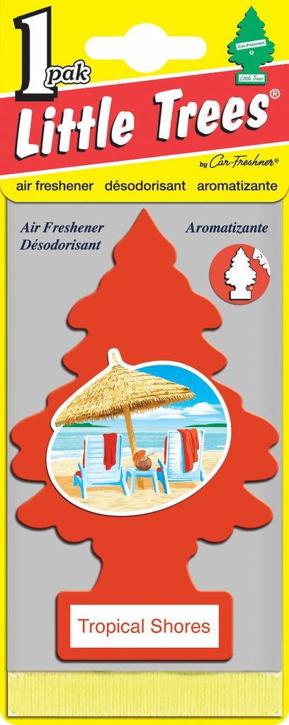 LITTLE TREES - CAR FRESHENER - TROPICAL SHORES 24'S