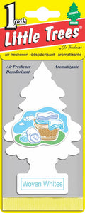 LITTLE TREES - CAR FRESHENER - WOVEN WHITE 24'S