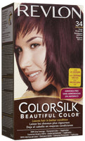 REVLON - COLORSILK - DEEP BURGUNDY (34) - 12CT/CASE