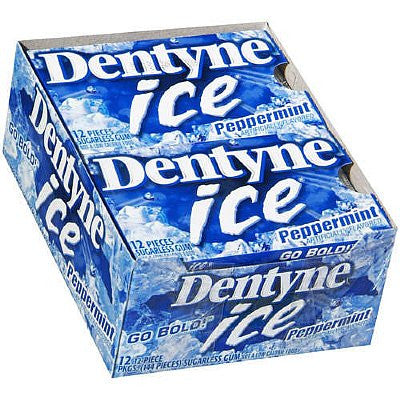 DENTYNE - PEPPERMINT GUM - 12CT/BOX