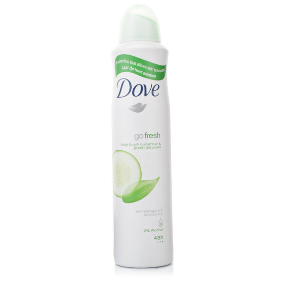 DOVE BODY SPRAY 150 mL - GO FRESH CUCUMBER & GREEN TEA