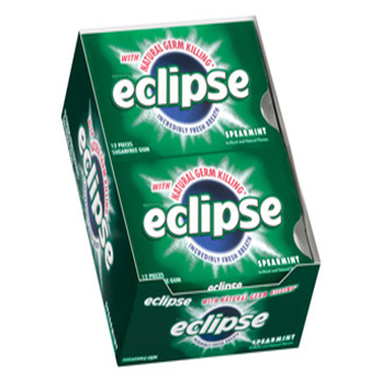 ECLIPSE - SPEARMINT GUM - 12CT/BOX