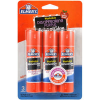 ELMER'S SCHOOL GLUE STICKS - 3CT - .63OZ - 40X1