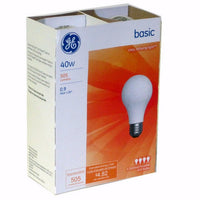 GE - LIGHT BULB - 40 WATT - 12CT/4PK/CASE