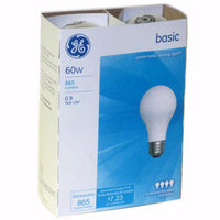 GE - LIGHT BULB - 60 WATT - 12CT/4PK/CASE
