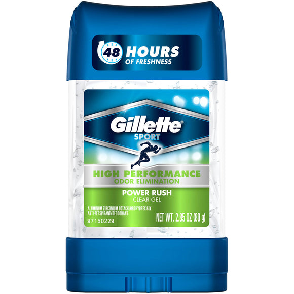 GILLETTE DEODORANT - 2.85OZ - Power Rush - Case - 12X1