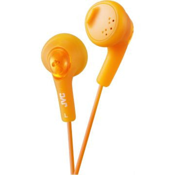 JVC - GUMY EAR BUD HEADPHONES - ORANGE (EACH)