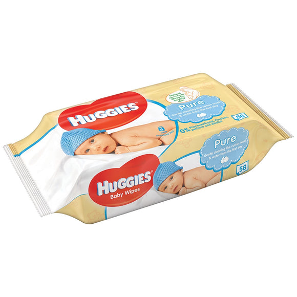 HUGGIES WIPES 56 SHEET - PURE - 10CT/CASE