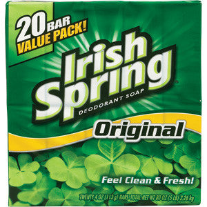 IRISH SPRING SOAP - ORIGINAL 3.75 OZ - 20PK/UNIT