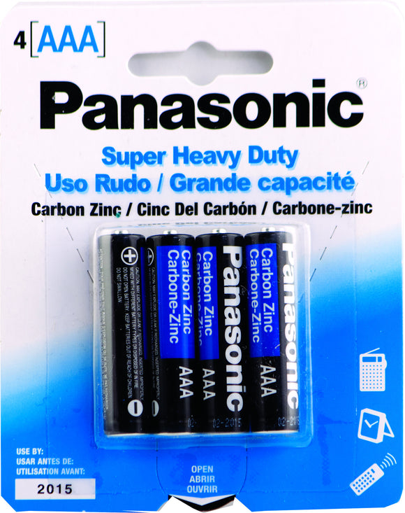 PANASONIC AAA-4 - SUPER HEAVY DUTY BATTERY