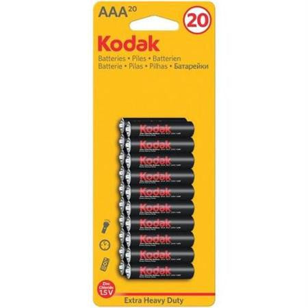 KODAK - AAA-20 - EXTRA HEAVY DUTY ZINC BATTERY - 12PK/BOX