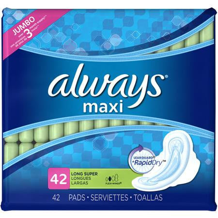 ALWAYS - MAXI SUPER LONG W/ WINGS 14'S - 12CT/CASE
