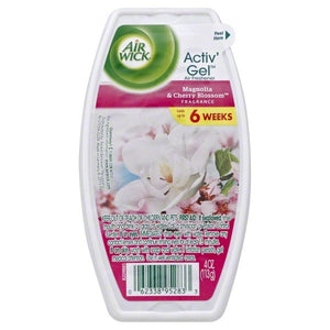 AIR WICK - Active Gel - 4OZ - Mangolia & Cherry Blossom - 12pcs/Case