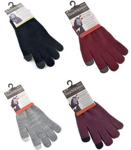 MEN TOUCH SCREEN GLOVES (WINTER) - 240/CASE
